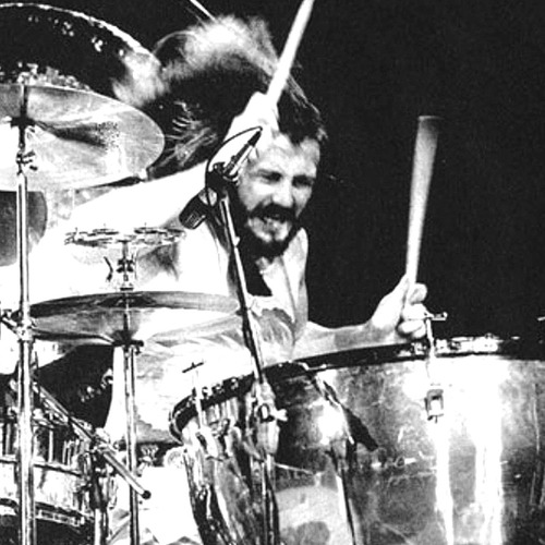 John Bonham on drum kit