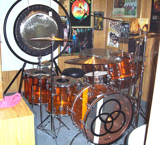 amber vistalite ludwig drum kit