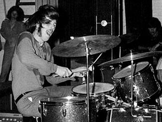 Early Bonham Drums Kit Setup Ludwig Green